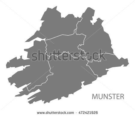 Ireland Counties Map Stock Photos, Royalty.