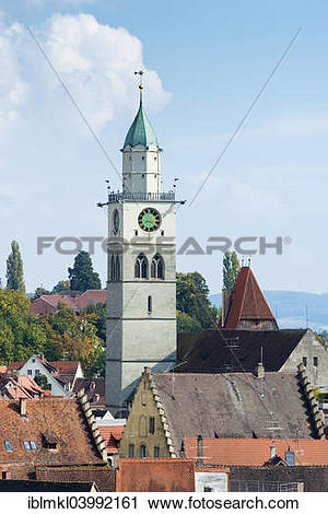 "Stock Photography of ""Church St Nikolaus Munster, Uberlingen."