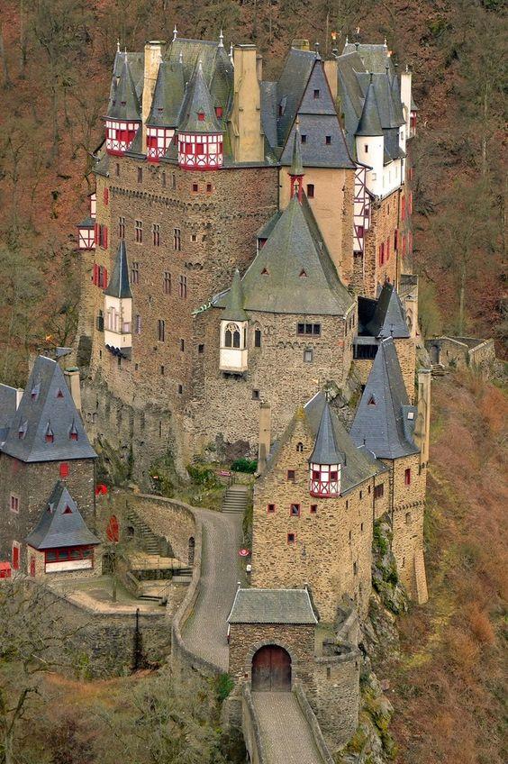 Bur Eltz Castle in Munstermaifeld, Germany.