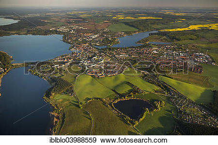 """Stock Photograph of """"Waren with Feisnecker See Lake and."""