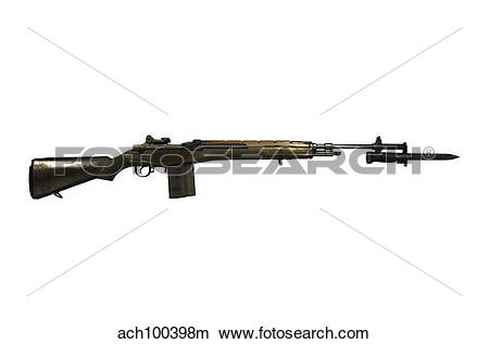 Stock Photo of M14 rifle, developed from the M1 Garand. ach100398m.