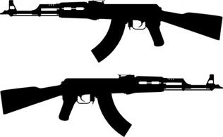 Armalite M 16 Colt Ar 15 Assault Rifle Free Vectors.