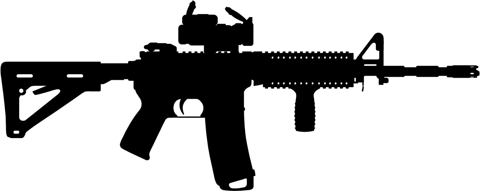 Royalty free ar 15 silhouette clipart.
