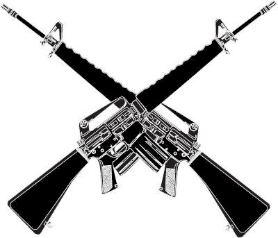 Crossed Guns Clipart.