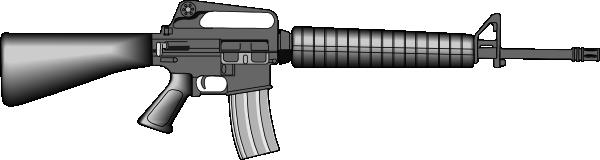 M16 Gun Clip Art at Clker.com.