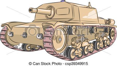 Vector Clip Art of Vector. Tank M 42..