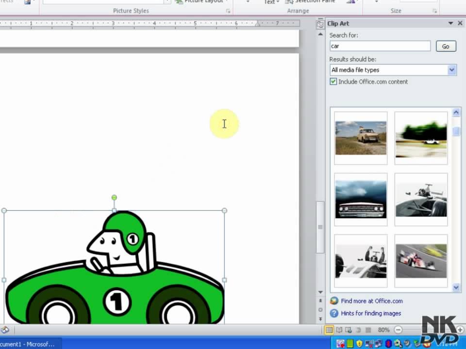 Lesson # 42 Insert Clip Art (Microsoft Office Word 2007/2010.
