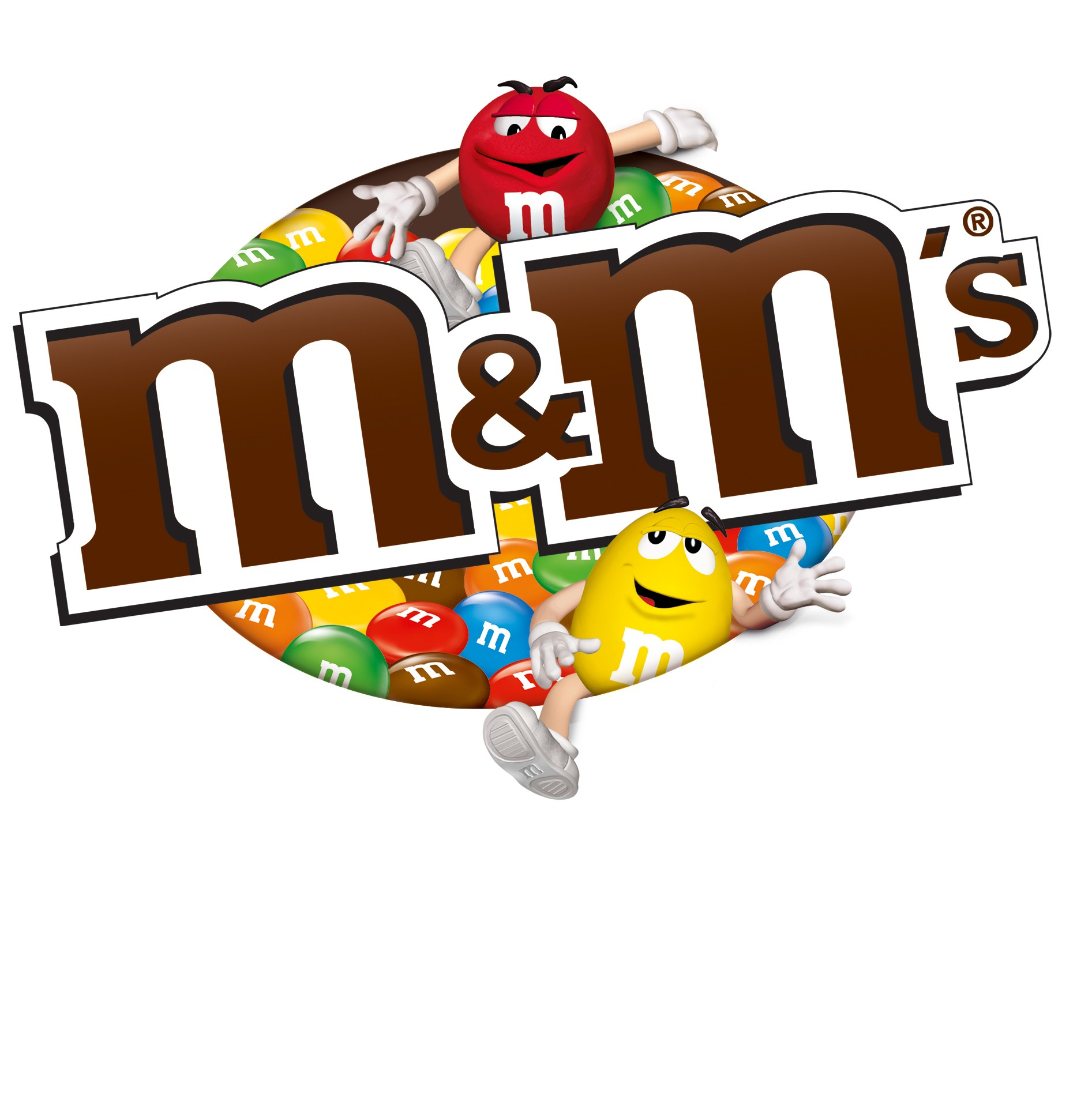 M and m candy Logos.