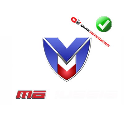 Red and blue car Logos.