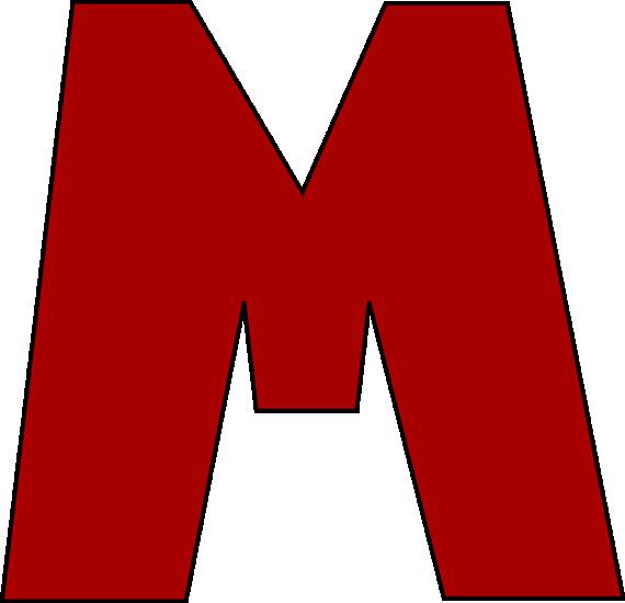 Letter M Clip Art.