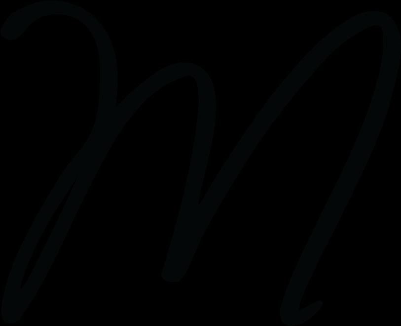 Megandallacamina Logo M Calligraphy.