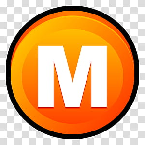 Sleek XP Software, letter M logo transparent background PNG.