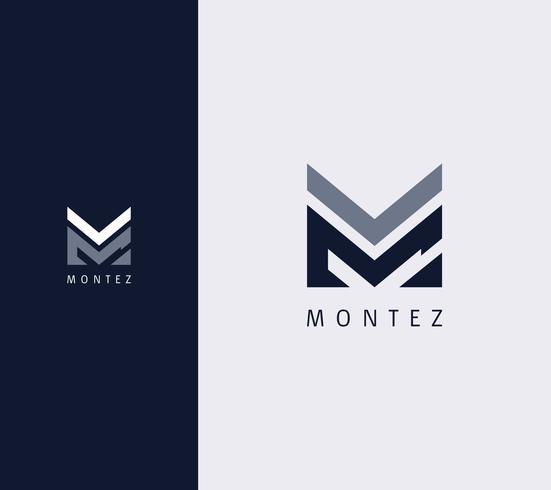 Overlay Letter M Logo Design Template.