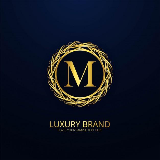 Ornamental luxury letter m logo Vector.