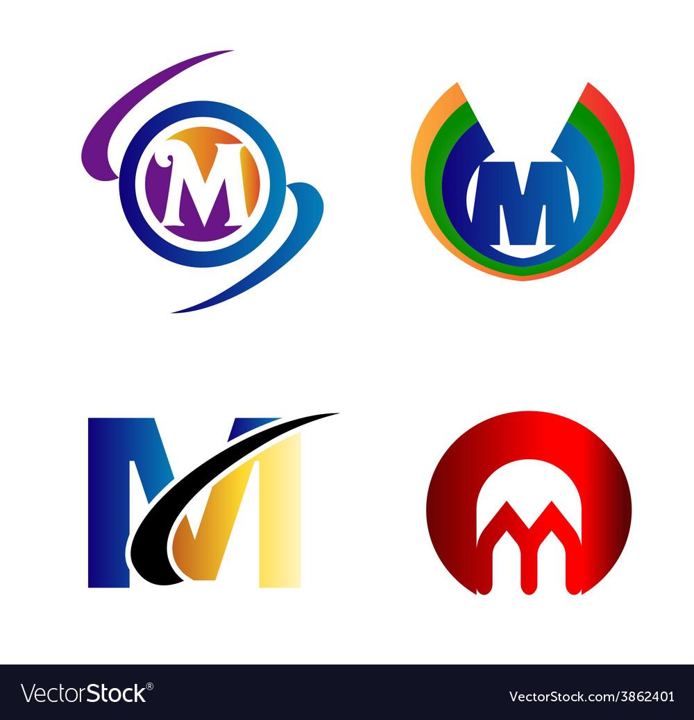 Letter M logo Icons Set Graphic Design.