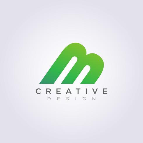 Building Letter M Vector Illustration Design Clipart Symbol.