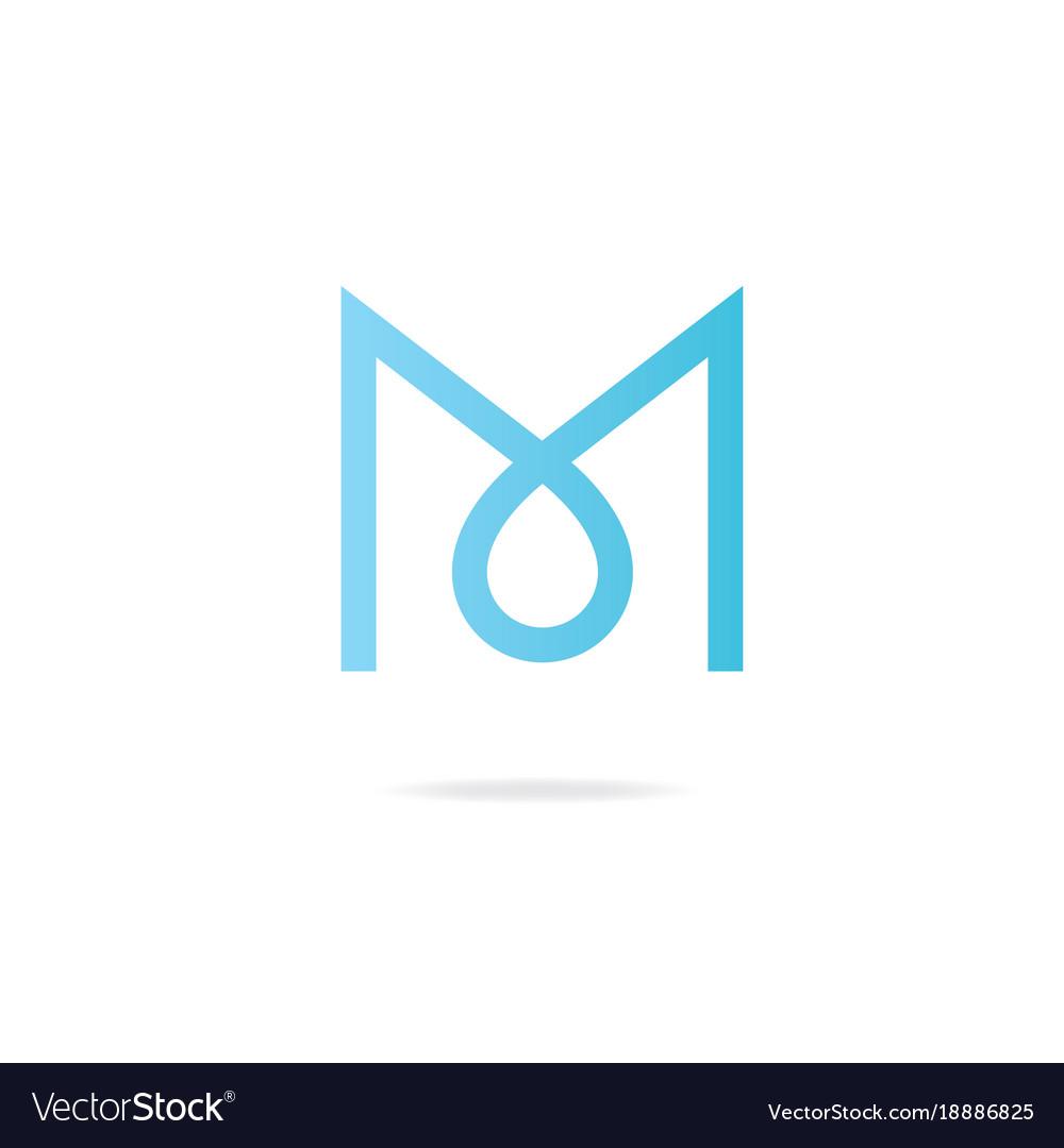 Letter m logo design template elements.
