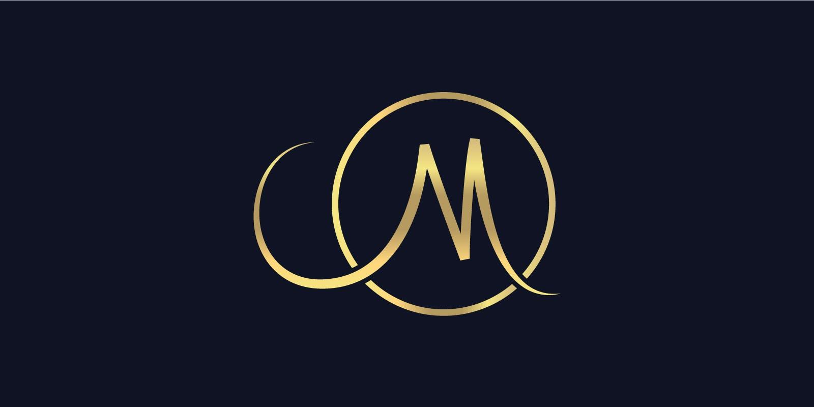 M logo design.