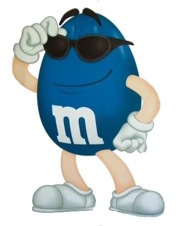 M&M Candy Characters Clip Art.