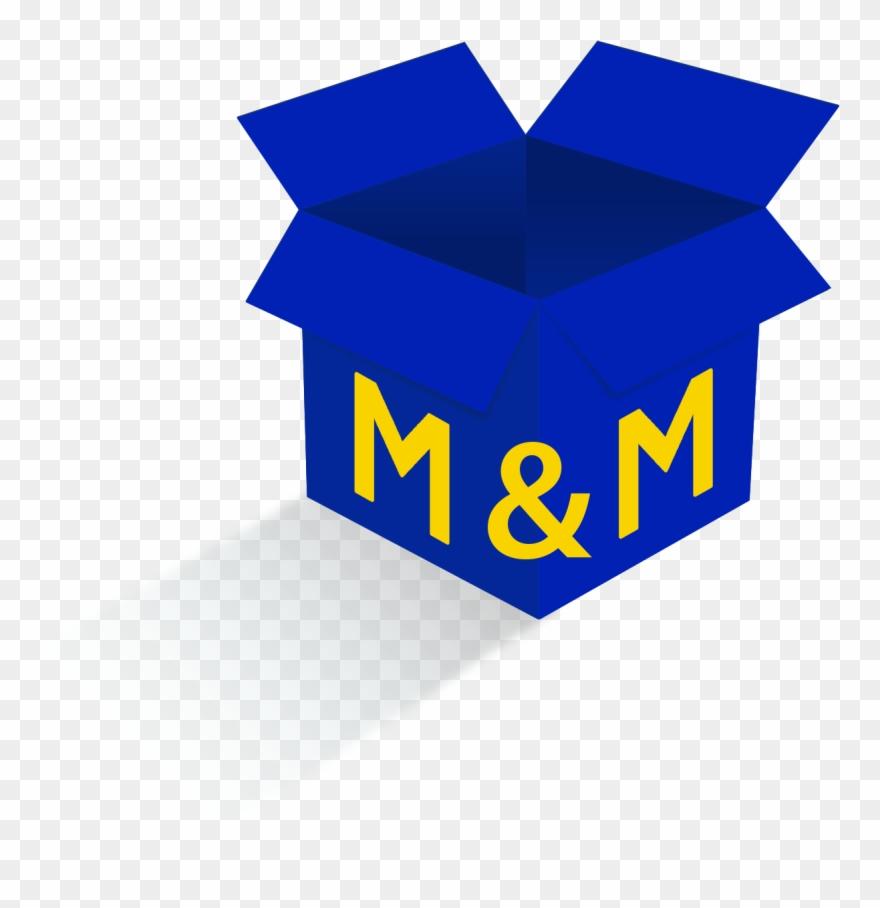 M & M Blue Png Vector Transparent.