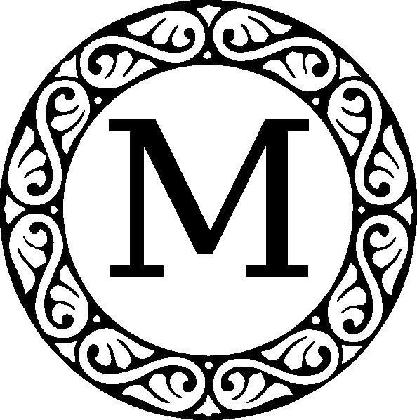 Monogram Letter M Clip Art at Clker.com.
