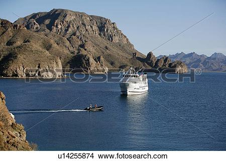 Stock Photo of The Lindblad expedition vessel m/v Sea Lion in.