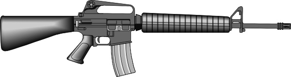 M16 clip art Free vector in Open office drawing svg ( .svg.