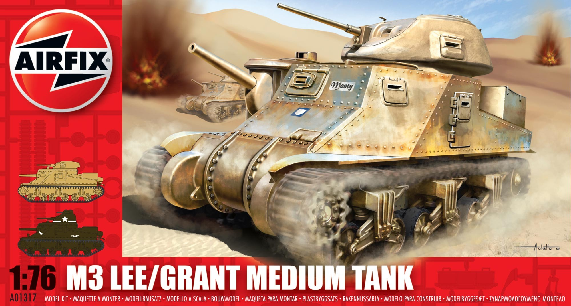 Airfix A01317 M3 Lee/Grant Medium Tank 1:76.