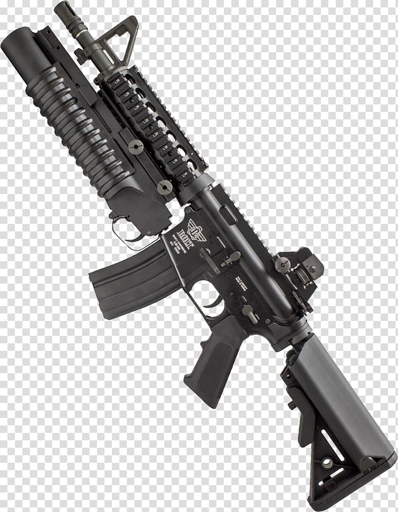 Airsoft Guns M4 carbine Weapon Rifle, grenade transparent.