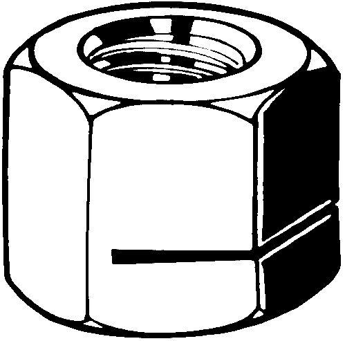 SNEP Prevailing torque hexagon nut all metal type USN Steel Zinc.