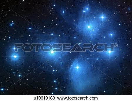 Pictures of Pleiades star cluster (M45) u10619188.