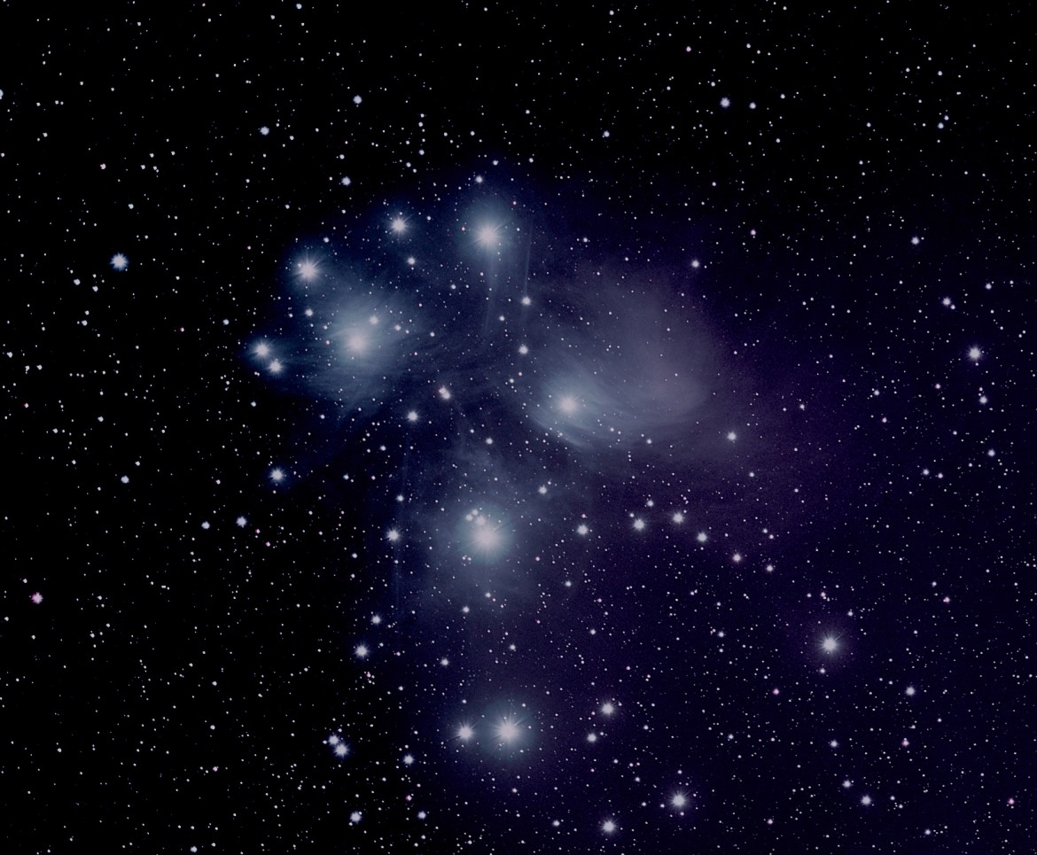 See the Glory The Pleiades Star Cluster (M45).