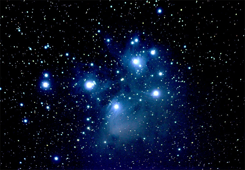Pleiades Star Cluster (M45) taken December 22, 2006 with a Canon.