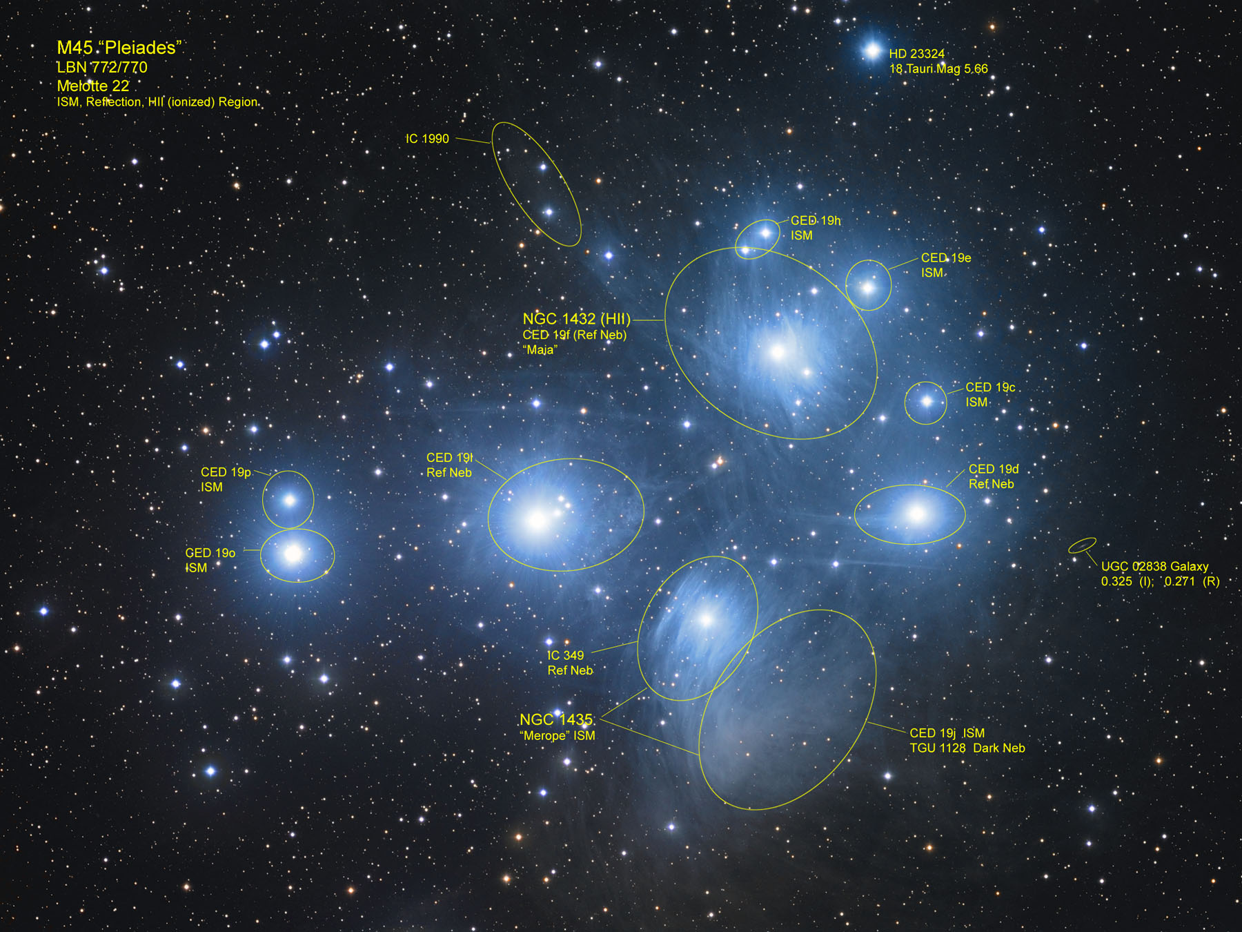 M45 Pleiades in Taurus.