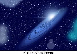 Stock Illustration of Galaxy : Ring Nebula M57, illustration.