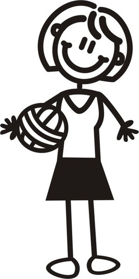 My Family  Stickers M6 Mother With Netball Clipart.