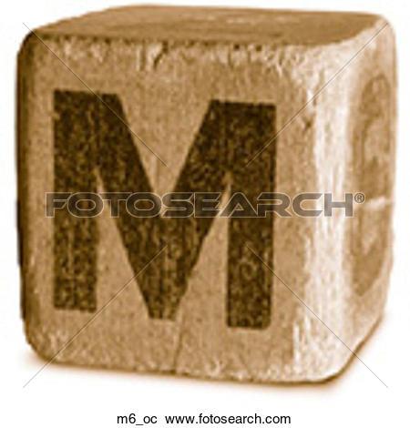 Stock Photography of Block Ochre M6 m6_oc.
