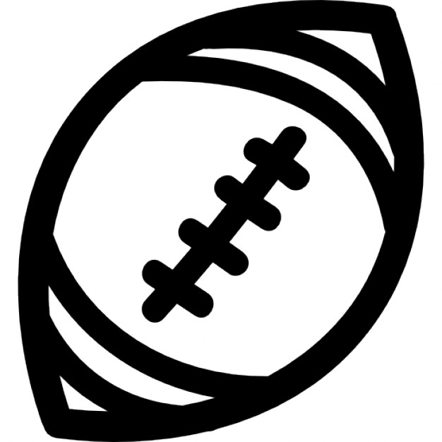 Football outline m6.
