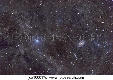 Stock Images of Galaxies M81 and M82 as seen through the.