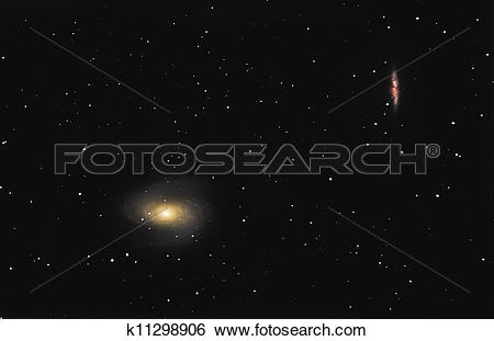 Stock Illustration of Bode's Galaxy M81 and M82 k11298906.