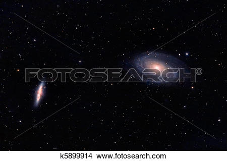 Stock Photo of M81 and M82 galaxies in Ursa Major k5899914.