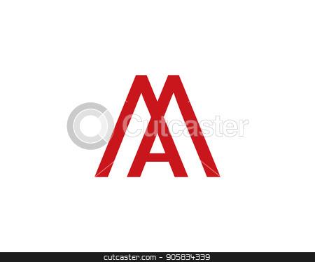ma letter logo stock vector.