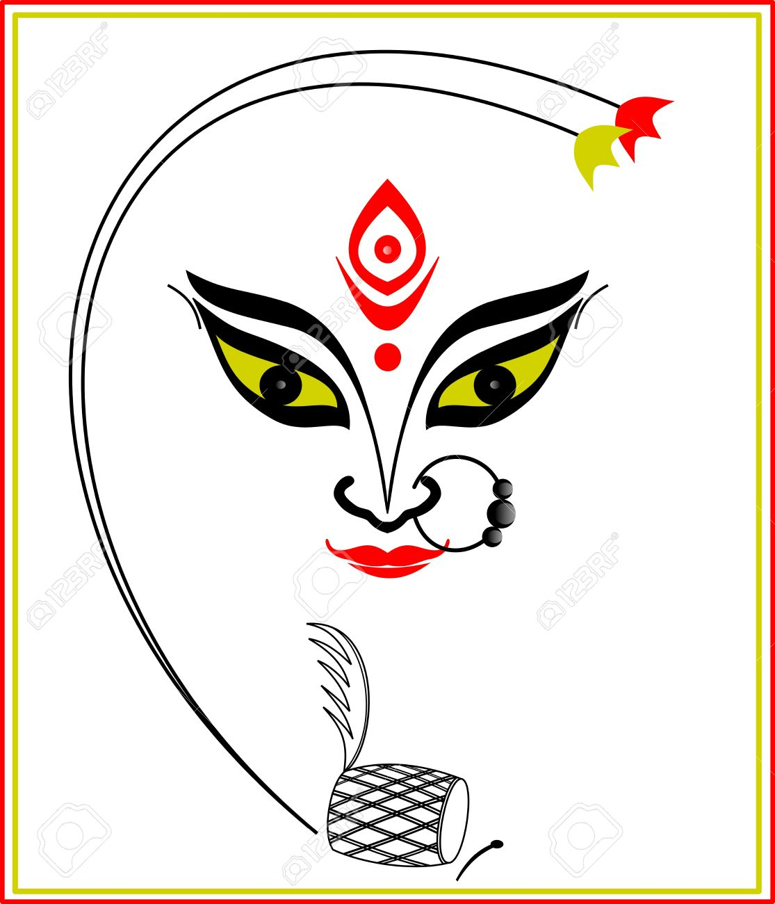 Maa Durga Face Sketch Full Hd Durga Maa Face Sketches Hindu.