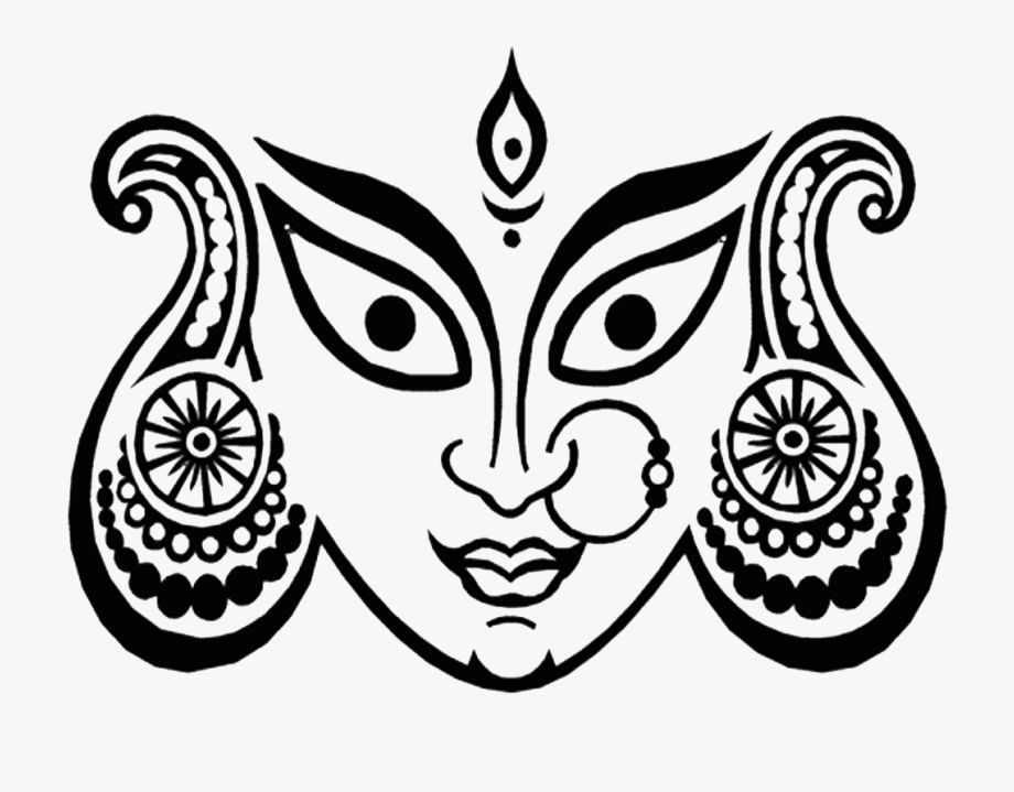 Maa Durga Face Png , Transparent Cartoon, Free Cliparts.