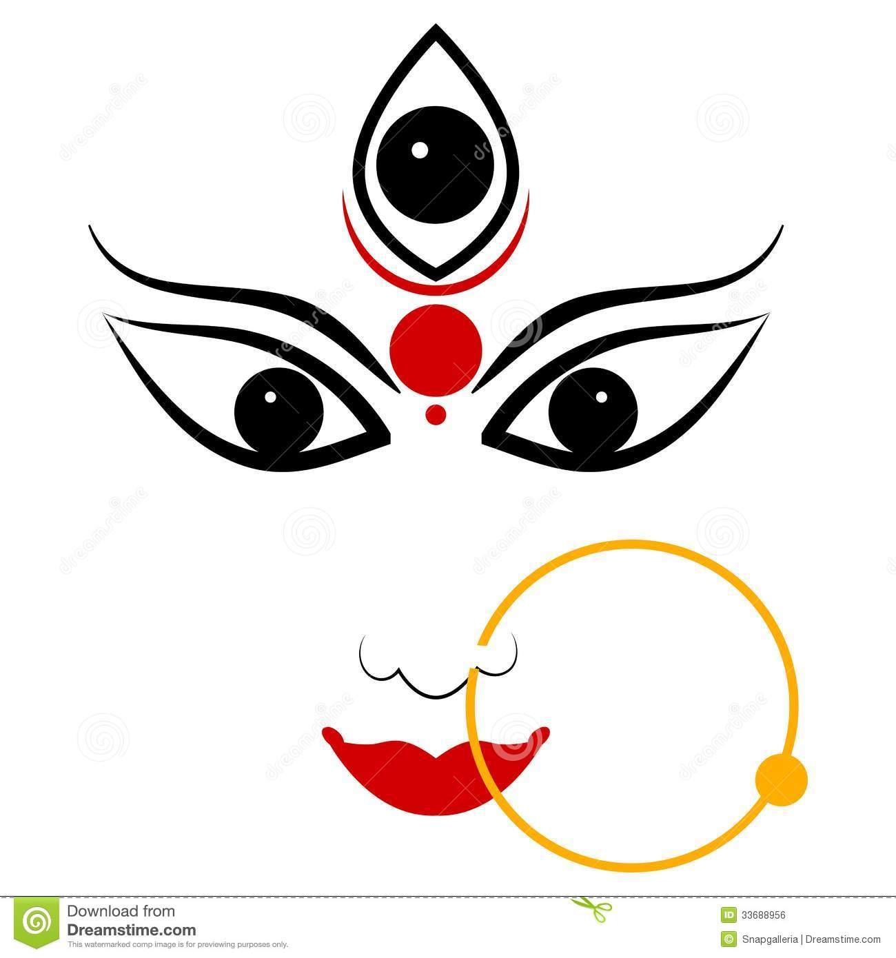 Durga Face Clipart.