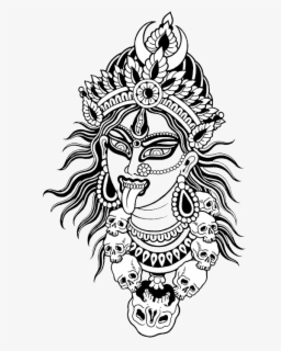 Free Maa Kali Face Clip Art with No Background.