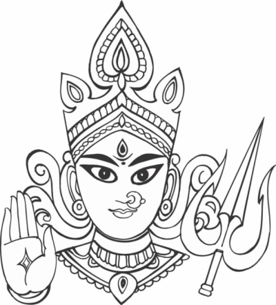 maa kali face clip art , Free clipart download.