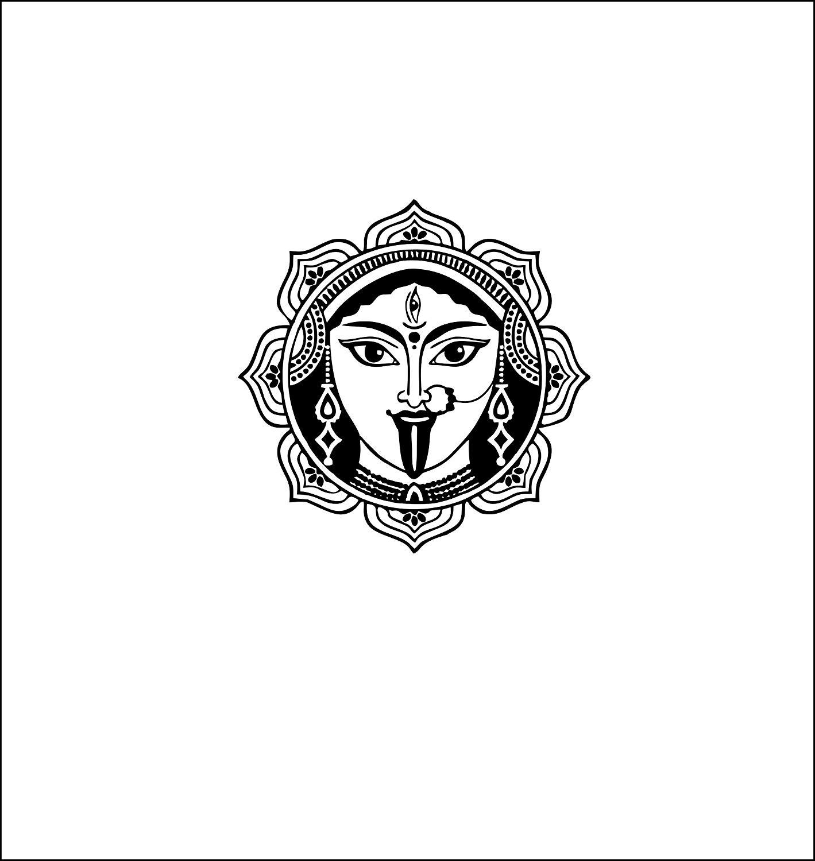 DECOR KAFE Maa Kali Religious Wall Sticker PVC Vinyl, (59Cm X 56Cm).