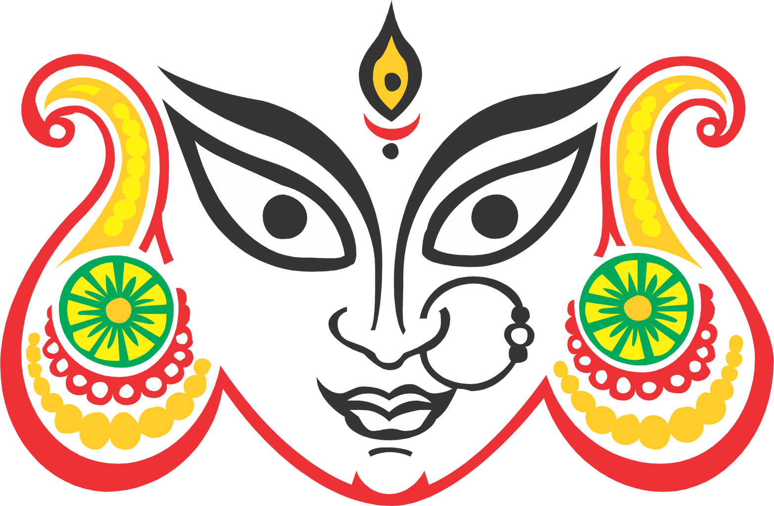 Durga Maa Logo Png Clipart.