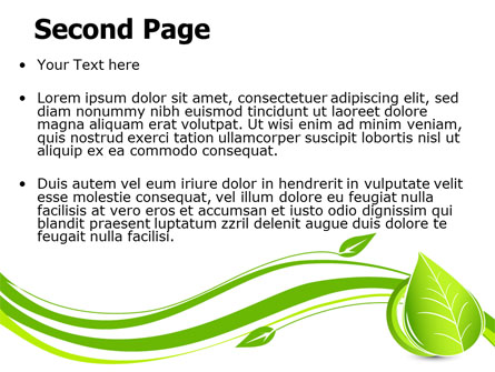 Tender Green Spring Leaf PowerPoint Template, Backgrounds.